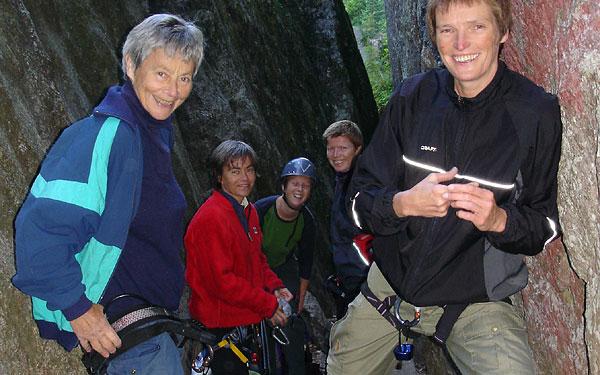 Noen av klatredamene