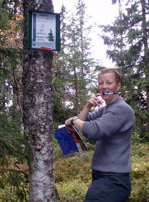 Marianne klipper ved kjentmannsposten Janhula