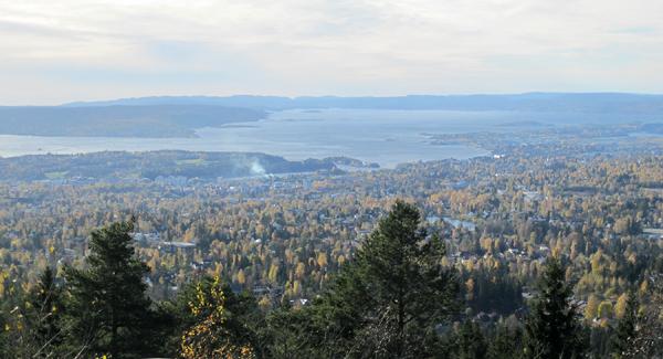 Godbit til gode: Oslo og fjorden sett fra Vettakollen i et klart øyeblikk