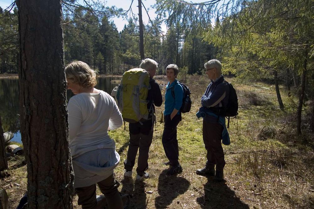 Monica, Elin, Marit og Eva ved Høyåstjern (Foto: Navna Navnesen)