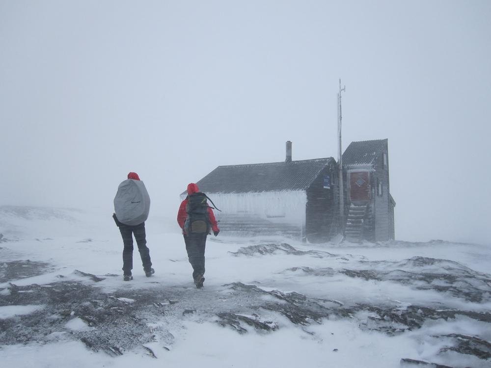 Koz ved Klemzbu. På baksiden fant vi ly for vinden. (Foto: Nina Didriksen)