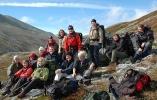 Hele gjengen samla i Illmanndalen. Foto: Rine G. Carlsen.
