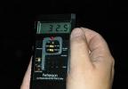 Flaggermusdetektor. Tallet i displayet oppgir lydstyrken.