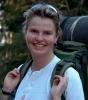 Linda, med full oppakning og klar for tur! Foto: Rine G. Carlsen