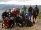 På toppen av Mørkgonga: Bak fra venstre Turid, Eva, Jurun, Inger, Anna, Lisbeth