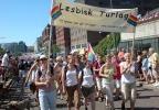 Lesbsik Turlag i årets parade. (Foto: Anita Svenkerud)