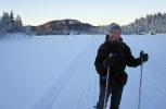 Fra bedre skitider: Lykkelig dame på Bjørnsjøen. Foto: Nina Didriksen