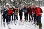 Alle skidamene, unnatt Hanne, som tok bildet. Foto: Hanne
