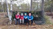 Damene på andre orreleiklag - Inger, Jorun B., Ann Helen og Jorun J. Jeg er bak