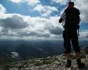 Fra Gaustatoppen ser man visstnok en sjettedel av Norge. Her er et utsnitt. (Fot