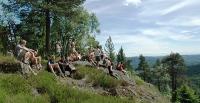 Rast på toppen av Øyungskollen. Foto: Rine G. Carlsen.