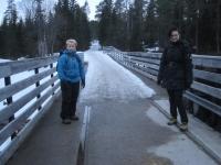 Plutselig møtte vi litt vinter (Foto: Vigdis Thoengen)