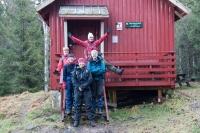 Damene på hyttetur: Kari, Jorun, Rine, Nina og Hanne. Foto: Rine G. Carlsen