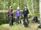 Turid, Pauline og Turid i et solgløtt (Foto: Anne Marie)
