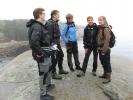 Kari, Anja, Kari, May-Britt og Janne i godt humør på svabergene.