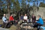 Eva (turleder), Helga, Julie, Monica, Jenny og Marit på Gaupefjell