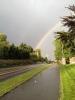 Lysende regnbue ga krefter til dyvåt LT-syklist (Foto: Jorun Jarp