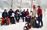 Vi fikk benkeplass utafor Gørjehytta. Foto: Nina Didriksen