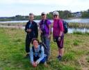 Turdamene: Bodil, Rine, Grete og Martha (foran). (Foto: Anne Marie Torgersen)